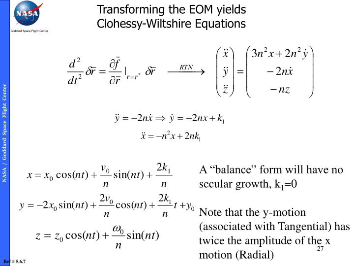 Transforming the EOM yields