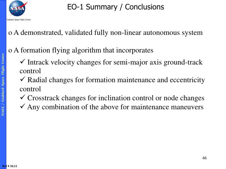 EO-1 Summary / Conclusions