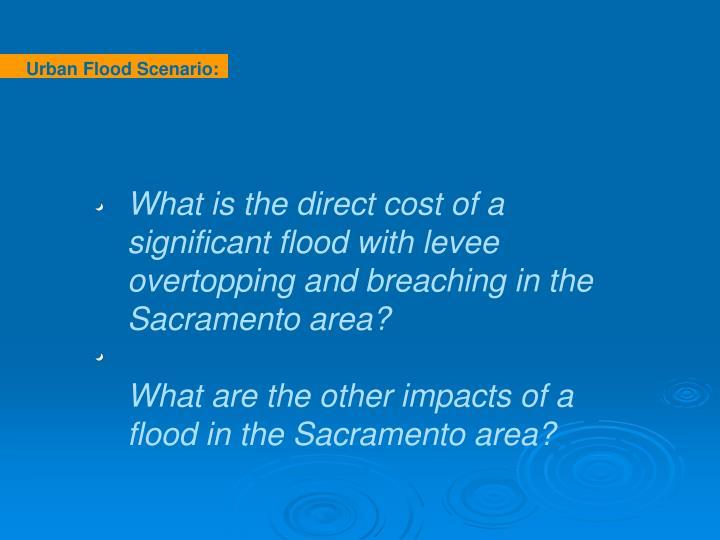 Urban Flood Scenario:   Sacramento Area levee break