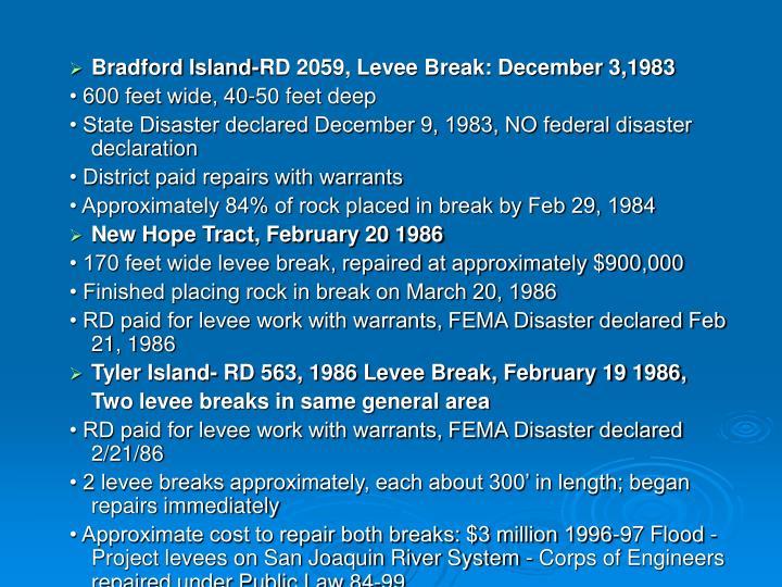 Bradford Island-RD 2059, Levee Break: December 3,1983