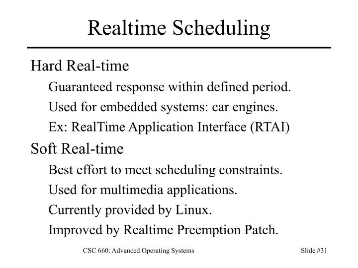 Realtime Scheduling