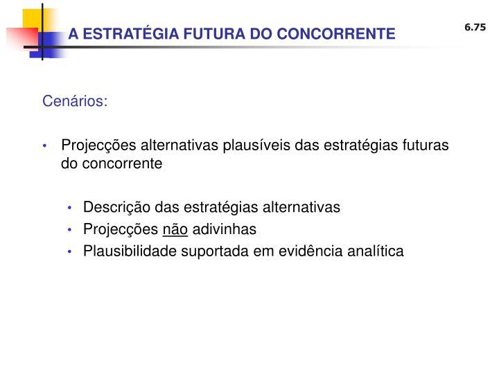 A ESTRATÉGIA FUTURA DO CONCORRENTE