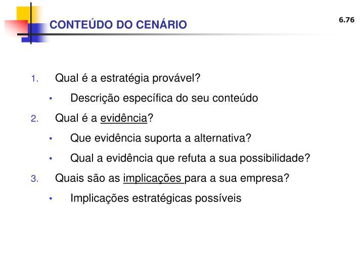 CONTEÚDO DO CENÁRIO