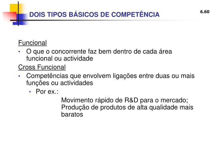 DOIS TIPOS BÁSICOS DE COMPETÊNCIA