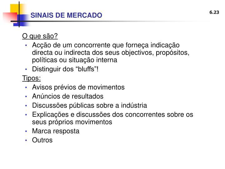 SINAIS DE MERCADO