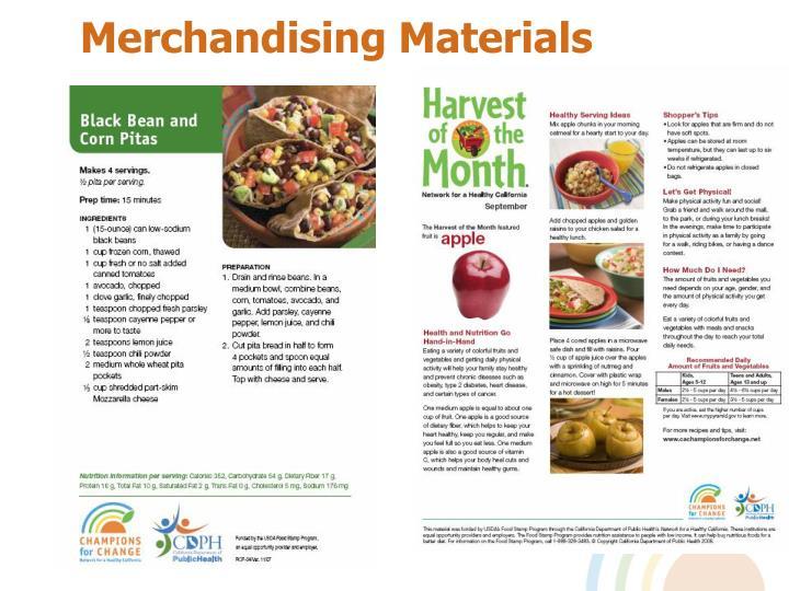Merchandising Materials
