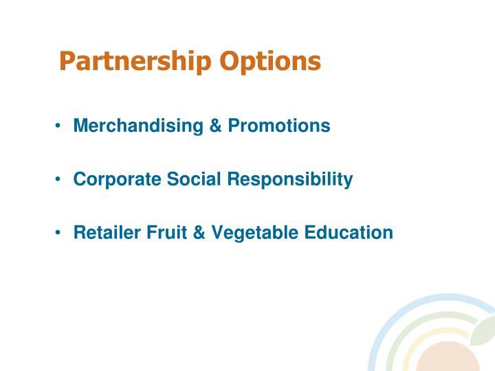 Partnership Options