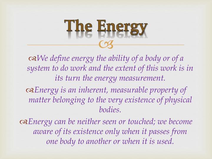 The Energy