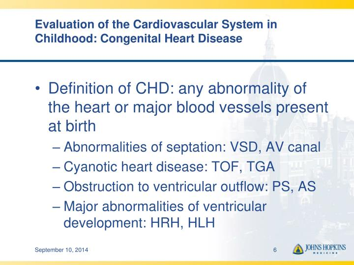 Evaluation of the Cardiovascular System in Childhood: Congenital Heart Disease