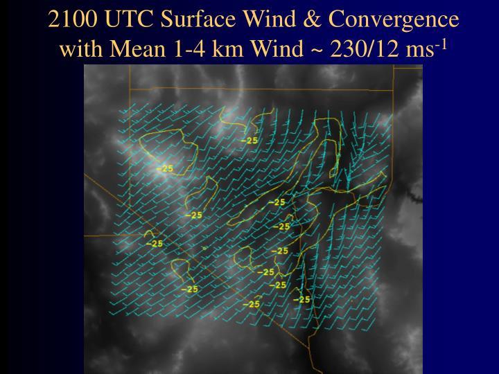 2100 UTC Surface Wind & Convergence