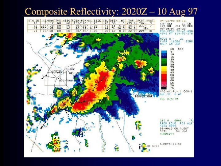 Composite Reflectivity: 2020Z – 10 Aug 97