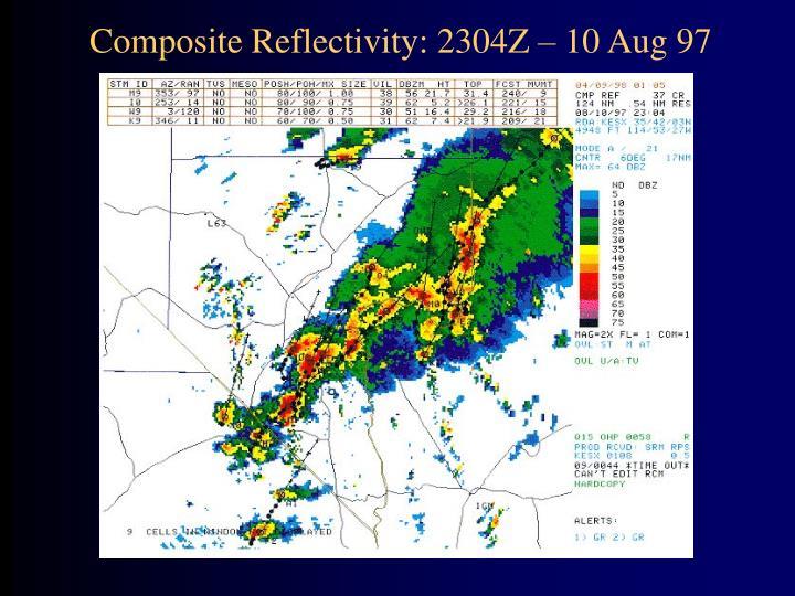 Composite Reflectivity: 2304Z – 10 Aug 97