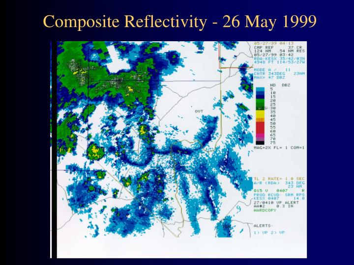 Composite Reflectivity - 26 May 1999