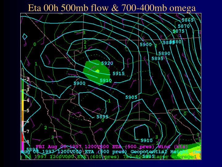 Eta 00h 500mb flow & 700-400mb omega