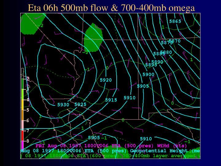 Eta 06h 500mb flow & 700-400mb omega