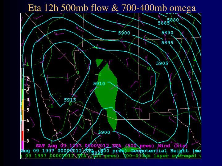 Eta 12h 500mb flow & 700-400mb omega