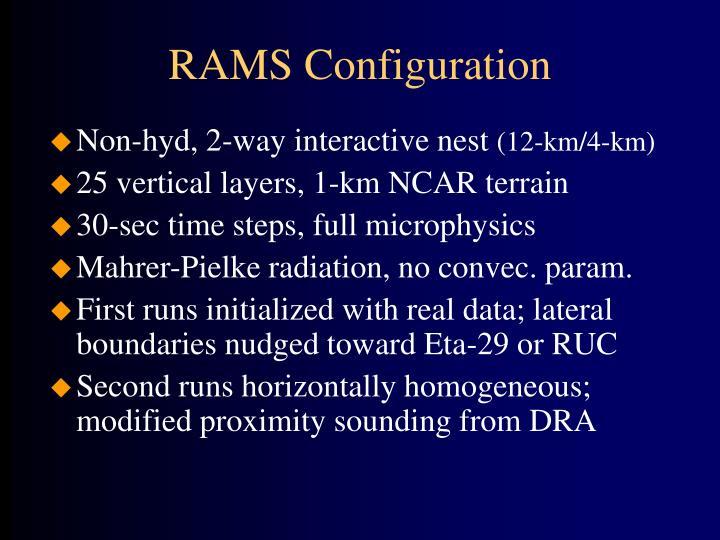 RAMS Configuration