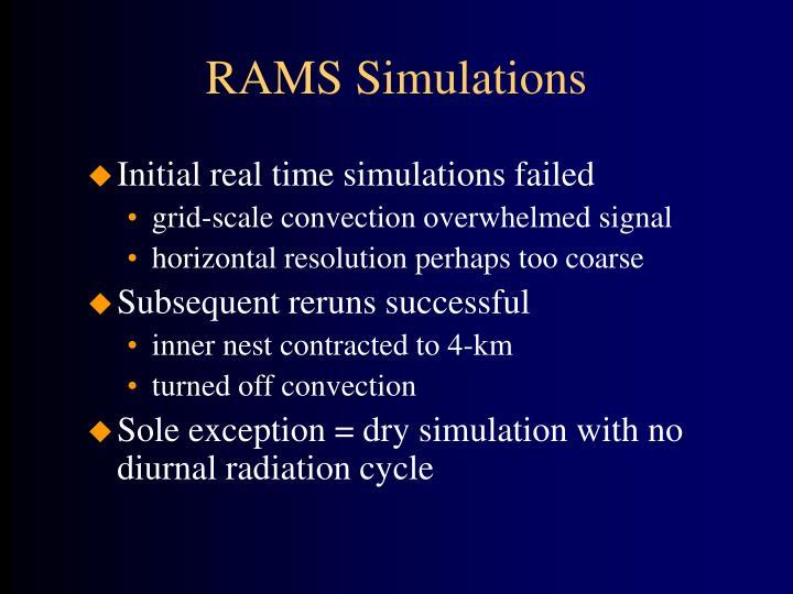 RAMS Simulations