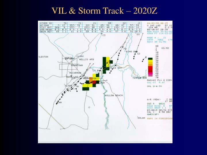 VIL & Storm Track – 2020Z