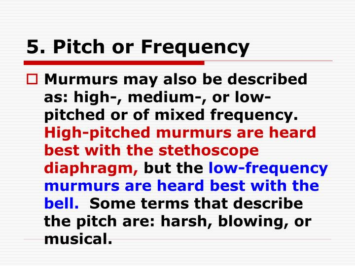 5. Pitch or Frequency