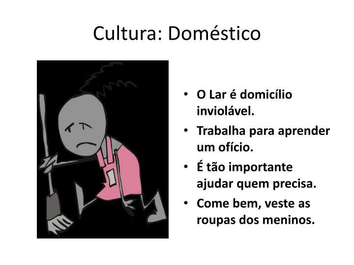 Cultura: Doméstico
