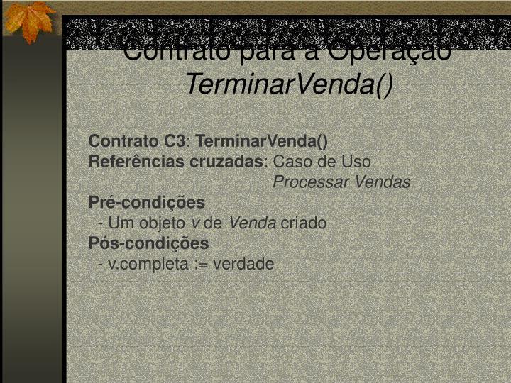 Contrato para a Operação
