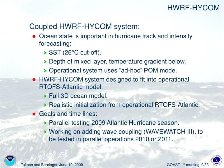 HWRF-HYCOM