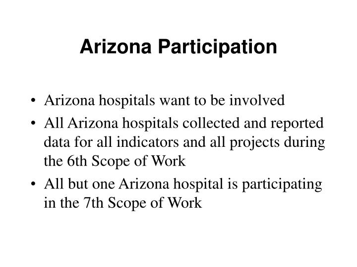 Arizona Participation