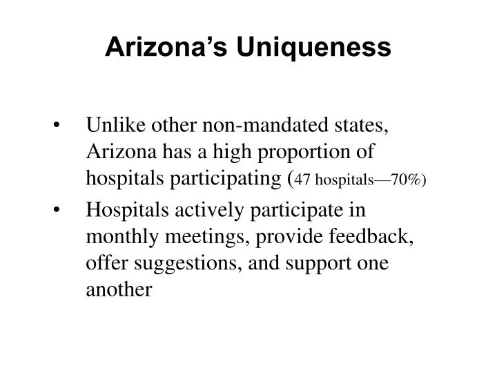 Arizona's Uniqueness