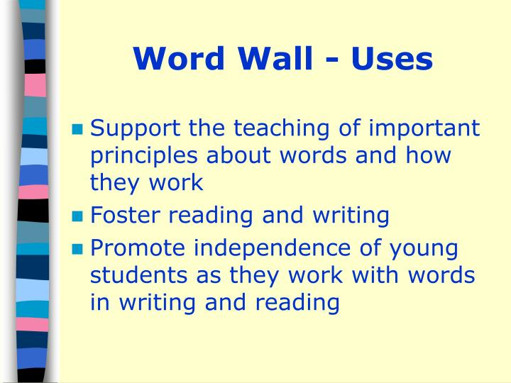 Word Wall - Uses