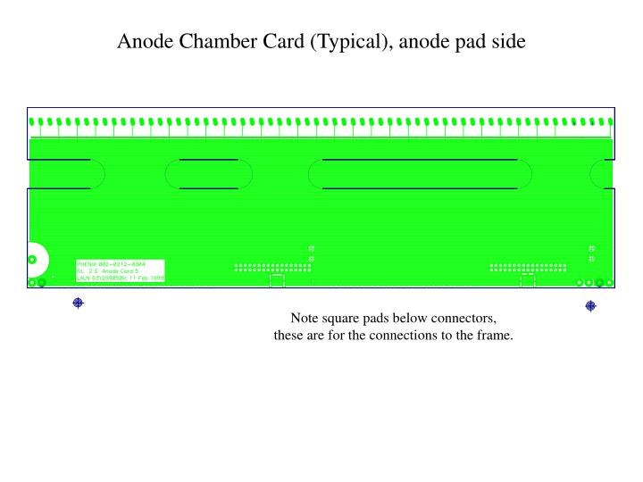Anode Chamber Card (Typical), anode pad side