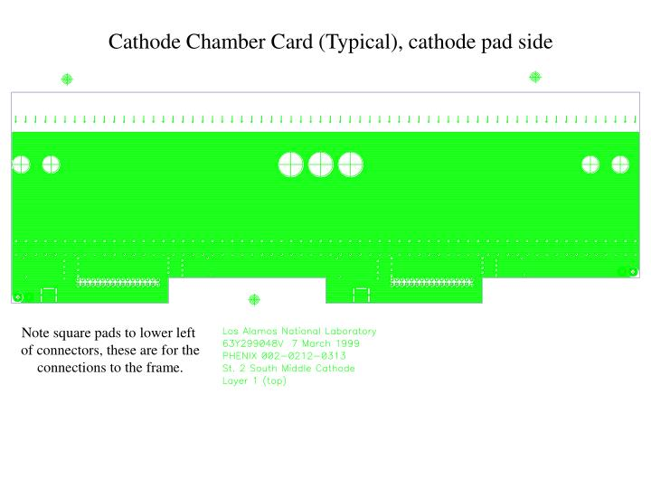 Cathode Chamber Card (Typical), cathode pad side