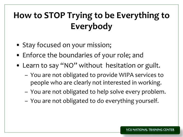 How to STOP Trying to be Everything to Everybody