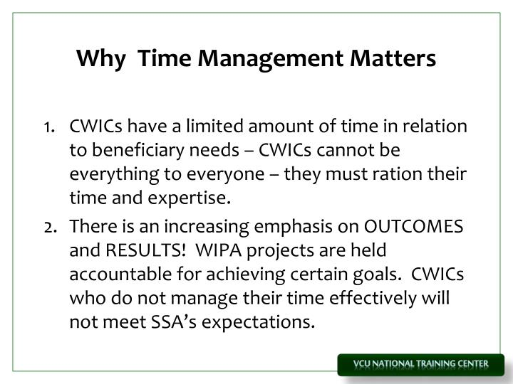 Why  Time Management Matters