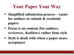 your paper your way