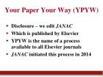 your paper your way ypyw