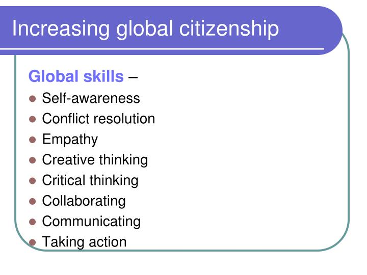 Increasing global citizenship