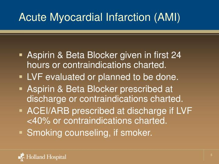 Acute Myocardial Infarction (AMI)