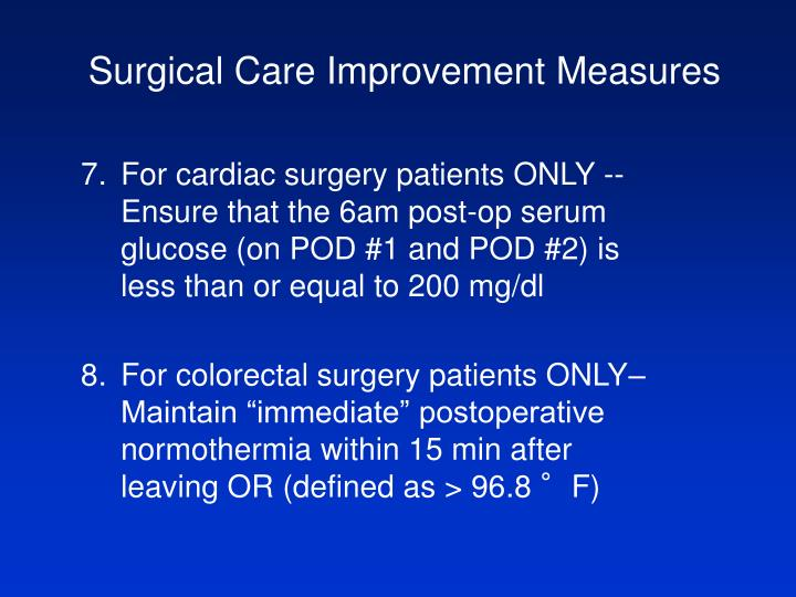 Surgical Care Improvement Measures