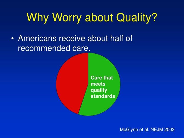 Why Worry about Quality?
