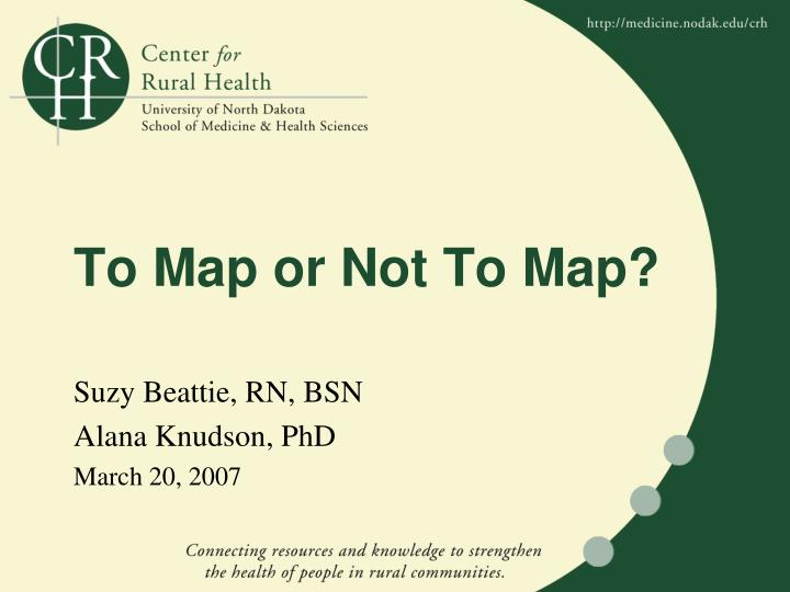 To map or not to map