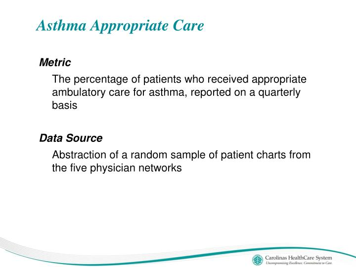 Asthma Appropriate Care