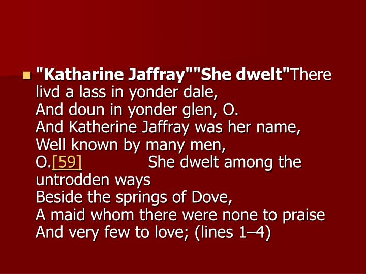 """Katharine Jaffray""""She dwelt"""