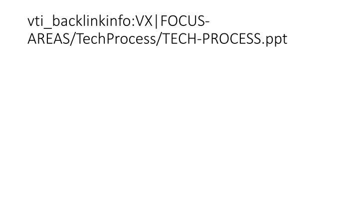 vti_backlinkinfo:VX|FOCUS-AREAS/TechProcess/TECH-PROCESS.ppt