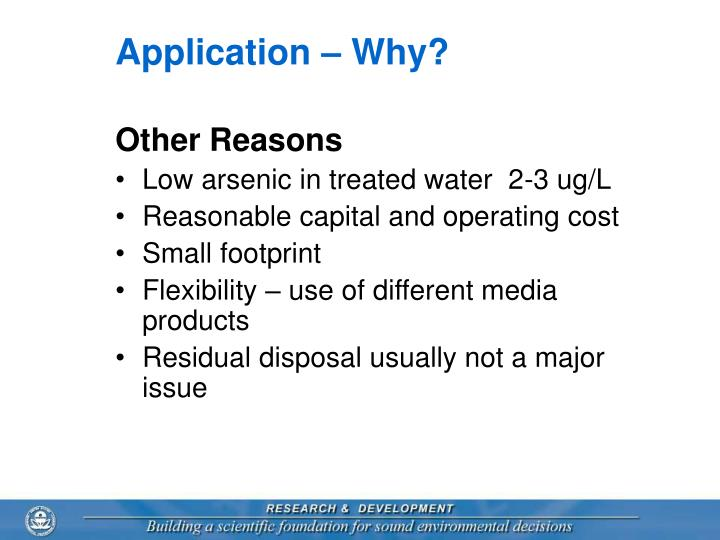 Application – Why?