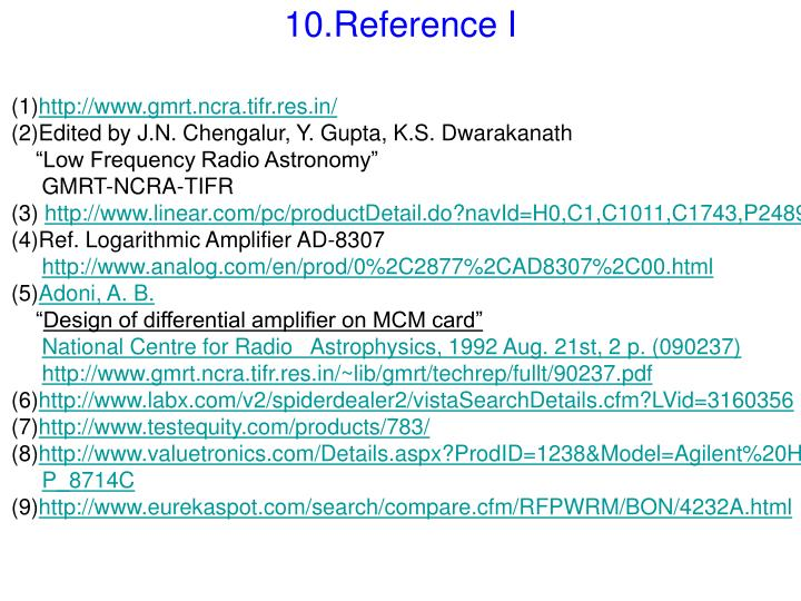 10.Reference I