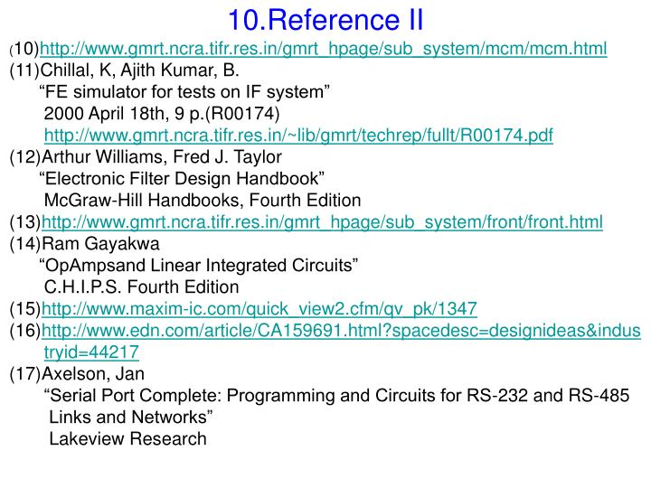 10.Reference II