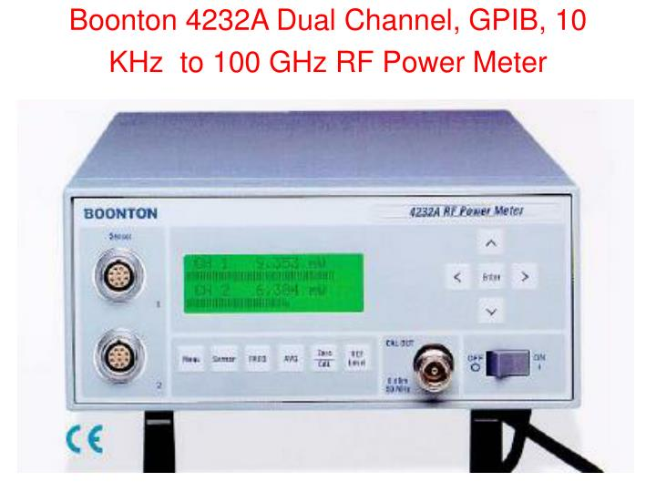 Boonton 4232A Dual Channel, GPIB, 10 KHz  to 100 GHz RF Power Meter