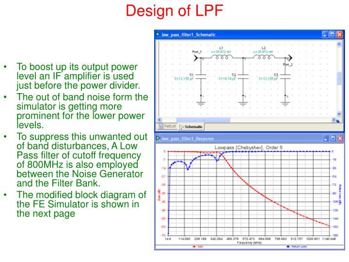 Design of LPF