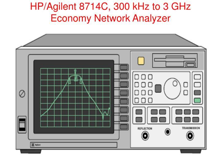 HP/Agilent 8714C, 300 kHz to 3 GHz Economy Network Analyzer